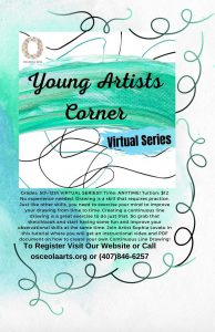Young Artists Corner (Virtual Series): Grades 5-12...