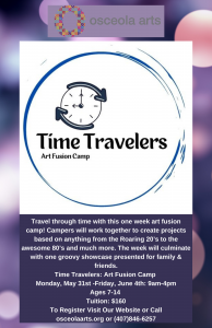 Time Travelers: Art Fusion Camp