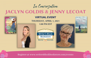 Author Jaclyn Goldis, When We Were Young In conversation with Jenny Lecoat
