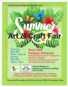 Summer Art & Craft Fair in Historic Cocoa Vill...
