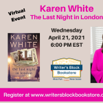 Virtual Event with Karen White - THE LAST NIGHT IN LONDON