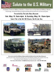 Salute to the U.S. Military Vehicle Display