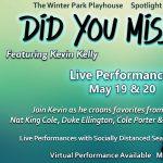 Spotlight Cabaret Series featuring Kevin Kelly - Virtual
