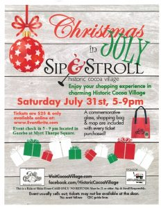 Christmas in July Sip & Stroll in Historic Coc...