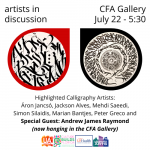 Artists In Discussion with Michel Bergeron: 7 Calligraphy Artists - Andrew James Raymond guest