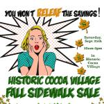 Historic Cocoa Village Fall Sidewalk Sale