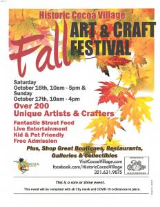 Fall Art & Craft Festival in Historic Cocoa Vi...