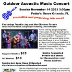 Outdoor Concert - Frankie Jay & the Chicken Parade.Opener Jane Gang Unleashed