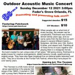 Outdoor Acoustic Music Concert featuring Patchwork, with opener The Yeomen