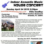 Indoor Acoustic Music House Concert