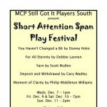 Short Attention Span Play Festival