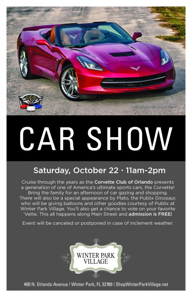 Winter Park Village Classic Car Show Presented By Winter Park - Car show in orlando this weekend