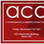ACA: A Contemporary A Cappella Concert Series Fall Concert