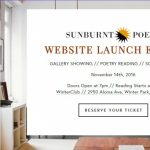 Sunburnt Poets Website Launch Party