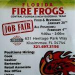 Fire Frogs Job Fair