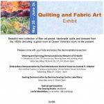 Quilting and Fabric Art Exhibit