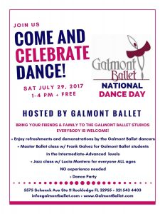 Galmont Ballet National Dance Day 2017