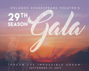 29th Season Gala: Orlando Shakespeare Theater