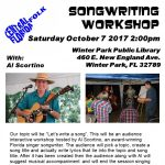 Songwriting Workshop with Al Scortino