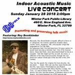 Indoor Acoustic MusicConcert