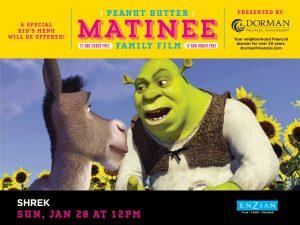 Peanut Butter Matinee Family Film: Shrek